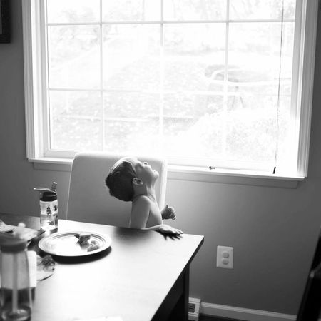 Window Indoors  Sunlight ANGST Toddler  Little Boy Black And White Backlight EyeEmNewHere