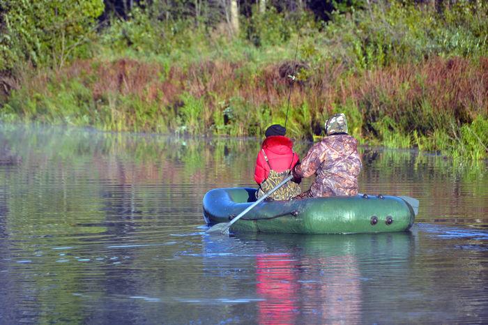 Fishing. Tomsk region, Siberia, Russia. Boat Fishing Morning Nature Non-urban Scene Outdoors Russia Siberia Tomsk Region Water People And Places