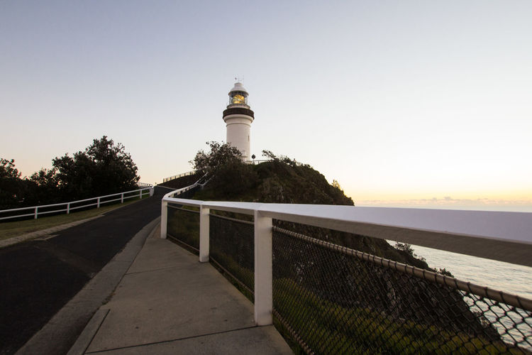 The path to the Byron Bay lighthouse at sunrise. Australia Byron Bay Byron Bay Lighthouse Lighthouse Morning Morning Light Ocean View Oceanside Path Road Travel Architecture Built Structure Coast Coastal Feature Direction Lighthouse Marine Ocean Sea Sunrise Tourism Destination Tourismus Travel Destinations EyeEmNewHere