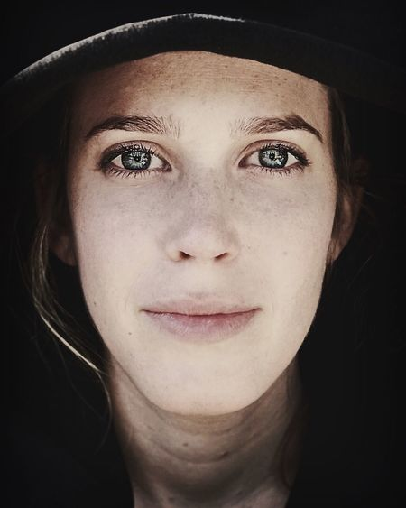 Fresh Looking At Camera The Portraitist - 2017 EyeEm Awards Beautiful Woman Young Women Women Around The World Real People Headshot Only Women Beauty Mid Adult Human Face One Woman Only Close-up Lifestyles Front View Green Eyes Freckle Black Background מייריקוד מייאייפון7 IPhone7Plus Shotoniphone7plus People Portrait Of A Woman Uniqueness
