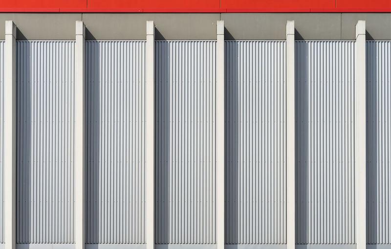 Full frame shot of modern industry building