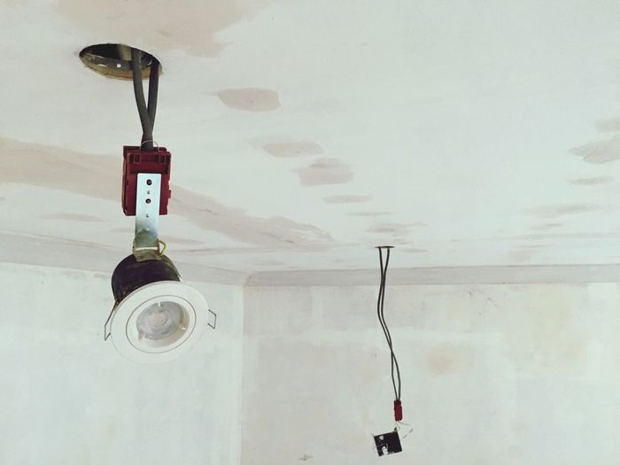 EyeEm Selects Construction Construction Site Downlights Plaster Plasterwork Ceiling Ceiling Lights Hanging Indoors  Repairs Homesweethome