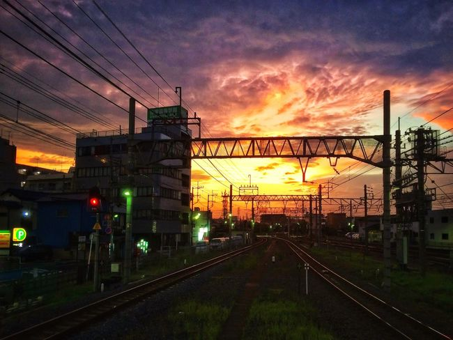 Railroad| Sunset Sunset_collection Sunset Silhouettes Beautiful Sunset Silhouette Urban Geometry Urban Landscape Urban Exploration Landscape_Collection Landscape_photography The Great Outdoors - 2016 EyeEm Awards