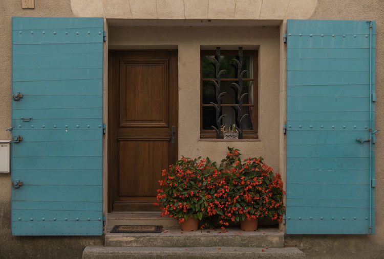 Porte d'Aix Aix-en-Provence Architecture Beautifull Home Blue Building Exterior Built Structure Closed Curtains Can Be Beautiful Day Door Doors Entrance Entrance Entrance Gate Flower Flower Entrance House Houses Houses And Windows No People Outdoors Plant Window Windows