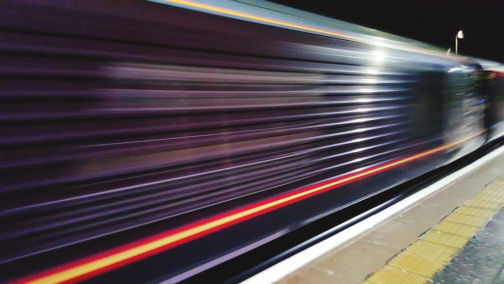 High Speed Speeding Trains Trains Motionphotography Motion Blur Taking Photos Taking Pictures Trainphotography Train Station Sanquhar Motionblur Travel Photography Speeding Along Samsung Galaxy S6 Edge Platform Something Different Night Lights Nightimephotography