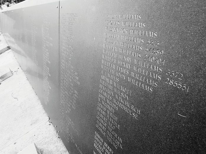 Fallen but unforgotten Day No People Outdoors Built Structure Fallen Heroes Honour Honor War Memorial War Remembrance Names Listed
