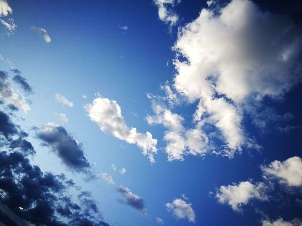 하늘 Sky Cloud - Sky Blue