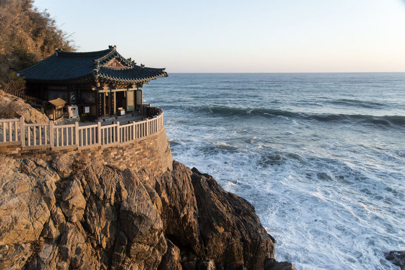 sunrise of Naksansa, Yangyang, Gangwondo, South Korea Architecture Beauty In Nature Dawn Day Horizon Over Water Morning Glow No People Outdoors Religion Scenics Sea Sky Sunrise Tranquility Travel Destinations