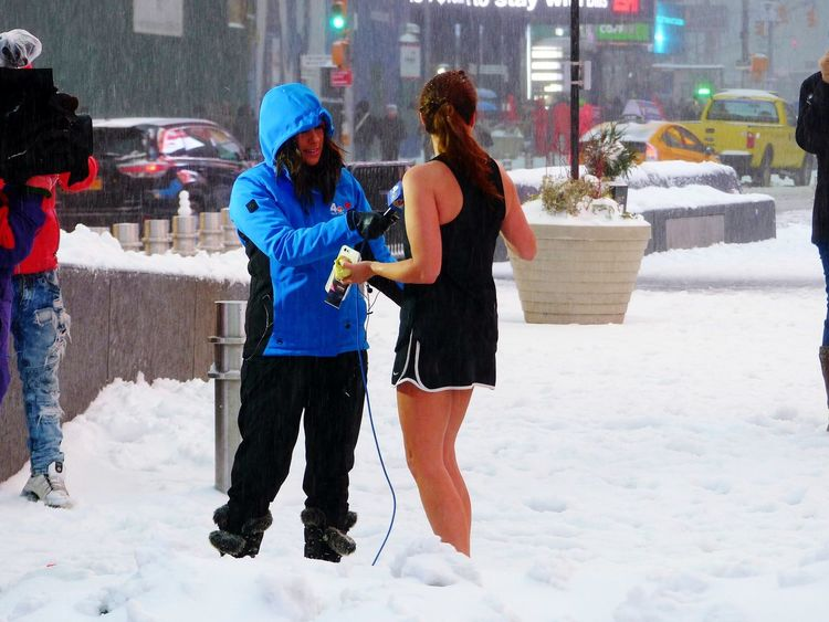 City Winter Winter New York City Blizzard Stella Blizzard 2017 Blizzard2017 Snowday Snowstorm Women Around The World BYOPaper! Business Stories