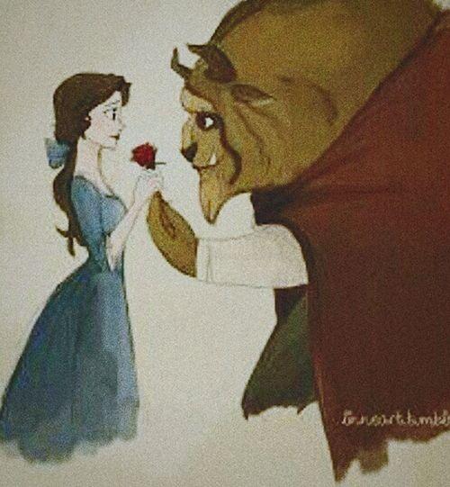 Disney Bella ❤ Bestia Love Rose🌹