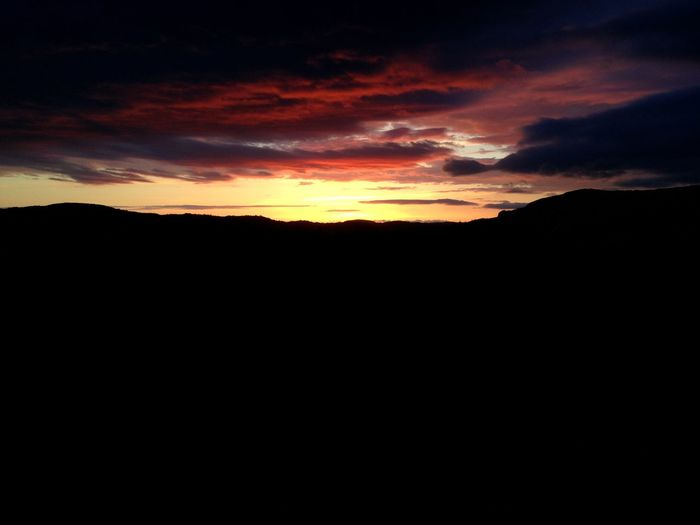 Sunset at Hell Sunset Silhouette Nature Sky Scenics Beauty In Nature Tranquil Scene Landscape Tranquility No People Mountain Outdoors