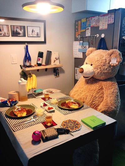 테디베어 챨리와의 식사 Teddy Bear Eat 곰인형 내 이름은 챨리 식사를 기다려요 Wait Jeongseon, Korea