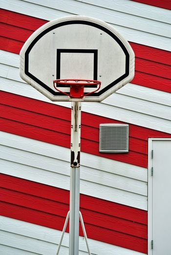 Basketball Hoop Basketball - Sport Healthy Lifestyle Sports Striped Activity Leisure Activity Basketball - Sport Basketball Hoop Built Structure Building Exterior Red Day Outdoors Fun Sport Basketball Basket Playing Activity Wall Basketball Game No People Patterns Close-up Full Frame Basketball Hoop Exterior Backgrounds Shape My Best Photo