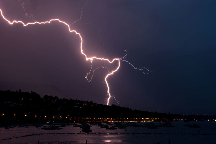 Beauty In Nature Danger Dramatic Sky Electricity  Natural Phenomenon Nature Night No People Storm