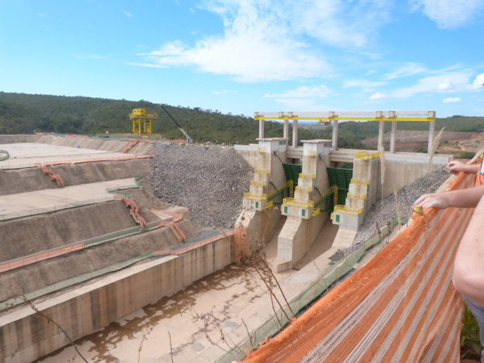 Concrete Concrete Wall Dam Energy Heavy Equipment No People Power Power Supply