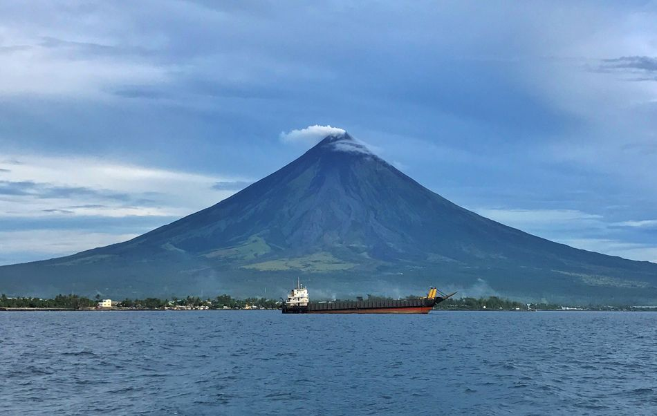 The Majestic Mt. Mayon Travelgram Philippines Travel Wanderlust IPhoneography Scenics Volcano Mayon Volcano Philippines Mt Mayon Mayonvolcano Nature Nautical Vessel Transportation Travel Destinations Vacations The Week On EyeEm Lost In The Landscape