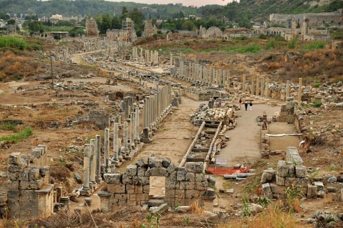 City Ancient Antalya Ancient Architecture Perge Antic