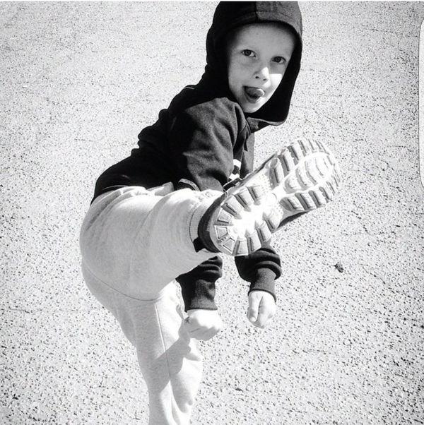 Blackandwhite Black & White Blackandwhite Photography Boy Hood - Clothing Toughguy Kickin It Kick