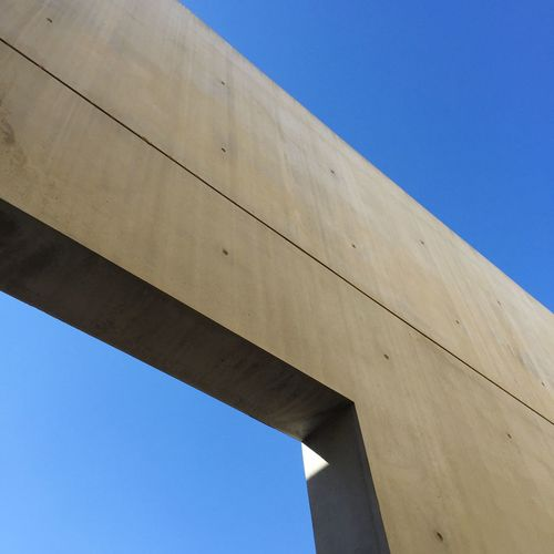 Low Angle View Of Concrete Wall At Yad Vashem