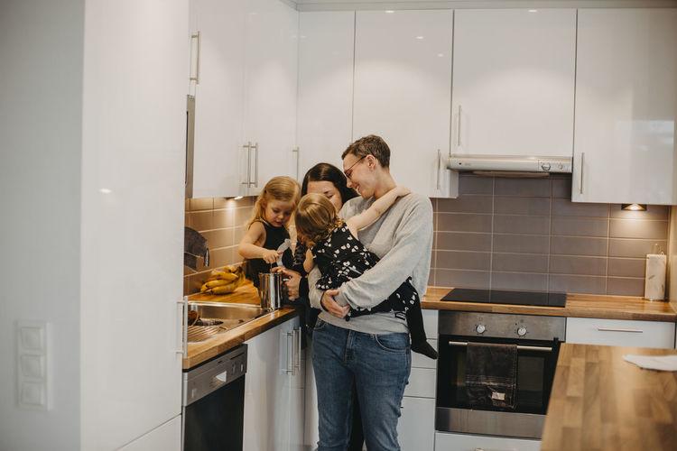 People having food at home
