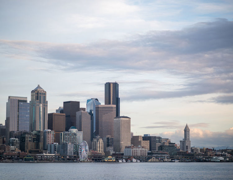 Elliott Bay Seattle Seattle Skyline Seattle, Washington Architecture Building Exterior Built Structure City City Life Cityscape Cloud - Sky Day Downtown District Modern No People Outdoors Sky Skyscraper Sunset Tall - High Tower Travel Destinations Urban Skyline Water Waterfront Colour Your Horizn The Architect - 2018 EyeEm Awards