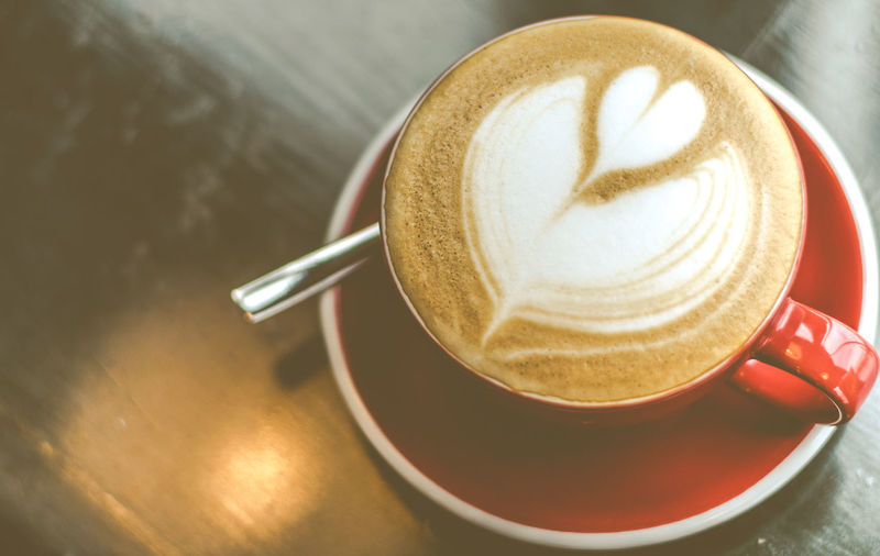 coffee latte art Drink Food And Drink Coffee Cup Refreshment Coffee - Drink Frothy Drink Saucer Table Indoors  Latte Freshness Teaspoon Heart Shape Cappuccino