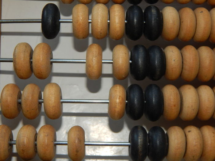 Manual mechanical abacus for accounting and financial calculations Retro Abacus Close-up Counting Indoors  Wood - Material
