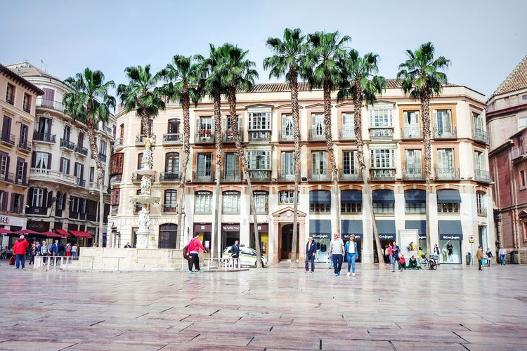 Malaga, Spain Architecture Travel Destinations Façade Building Exterior People Tree King - Royal Person Day Sky Outdoors Adult Clear Sky City Adults Only Politics And Government Fresh 3 EyeEm Best Shots Architecture Real People