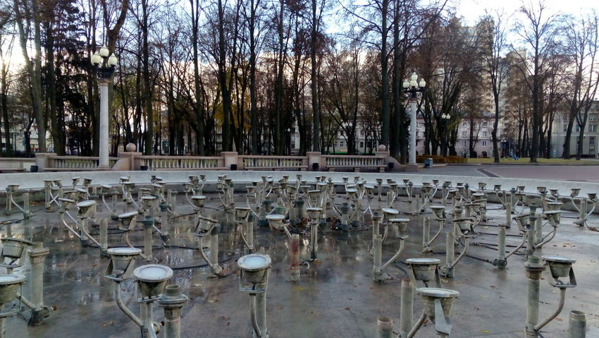 Autumn Colors Sky Day Fountain_collection Fountain Is Not Working What Eye See  Pumps ♥ Minsk I Love My City