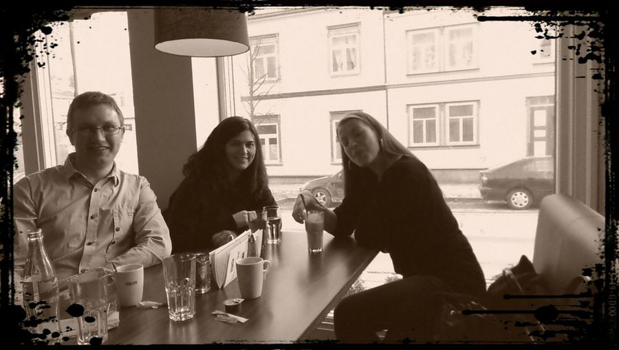 Social with friends in Levanger. Meeting Friends