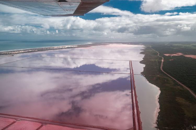 Hutt lagoon in western australia
