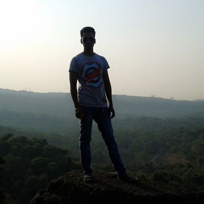 Top of the mountain feeling exited