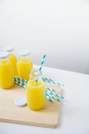 Drink No People Drinking Straw Healthy Eating Indoors  Freshness Day Food And Drink StillLifePhotography Still Life Yellow Light Blue Healthy Healtydrinks Bright Colors Foodphotography Juice Juice Drink Fruit Juice