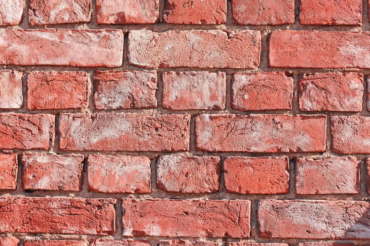 Backgrounds Brick Wall Brick Wall Wall - Building Feature Textured  Full Frame Red Built Structure Pattern No People Architecture Old Brown Rough Copy Space In A Row Close-up Weathered Outdoors Textured Effect