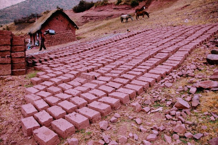 Making of bricks
