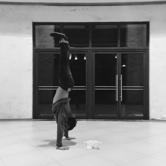 Training Dancer Black & White IPhoneography
