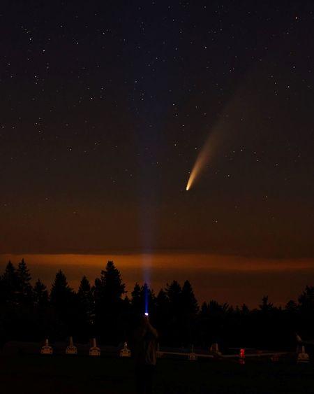 Neowise komet Über der rhön