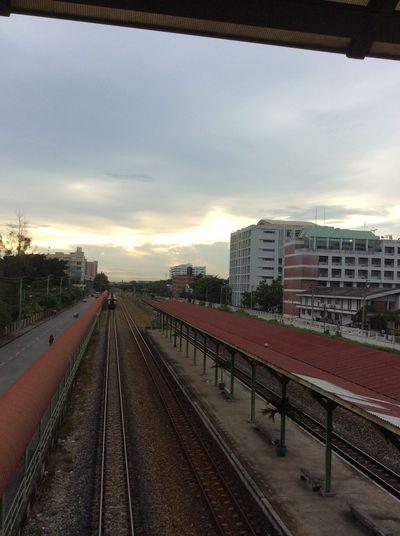 Time to go home Train Station Kmitl Train Evening Sky