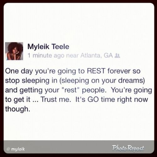 Findyourpurpose great message from @myleik
