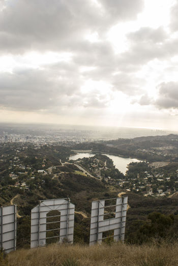 Hollywood Hills Hollywood Reservoir Rays Of Light Cloud - Sky Day Landscape No People Outdoors Scenics Sky Sun Beams