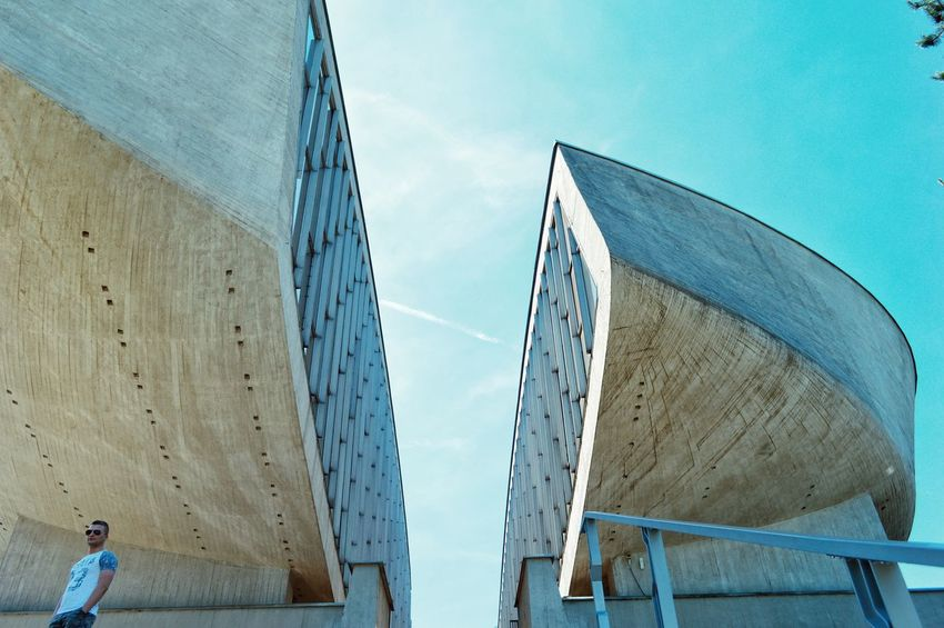 Monument Architecture Urban Urban Geometry Architecture_collection Architectural Feature Architecturelovers Built Structure Modern Urbanphotography City Cityexplorer People People And Places One Person Personal Perspective From My Point Of View Urban Perspectives in Banska Bystrica, Slovakia