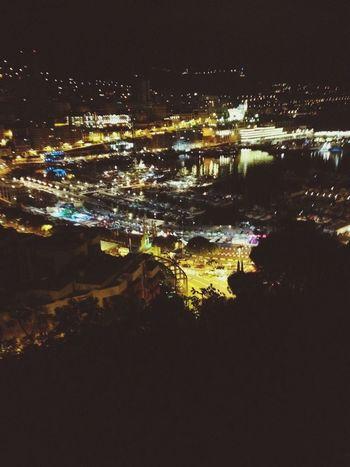 Monaco Night Lights Traveling Hello World