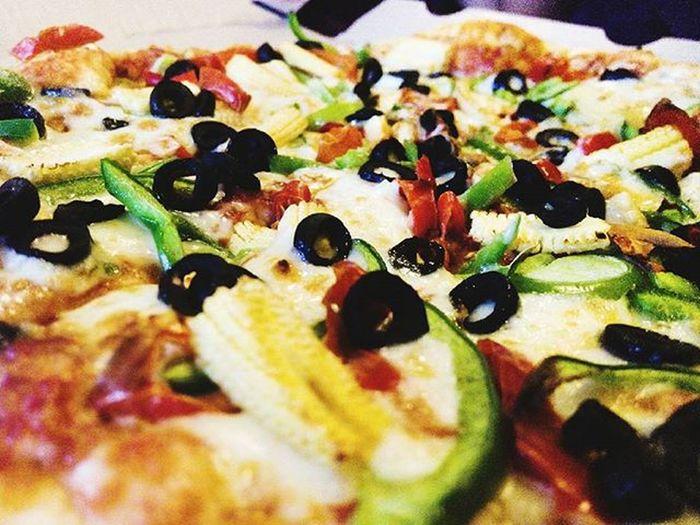 P I Z Z A I S L I F E Pizzaislife Pizzalover Pizza Olivs Blackolives Cheese Dominos Babycorn 🍕🍕🍕