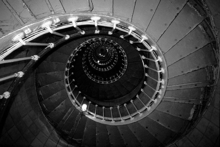 Special Mention bnw_shore_lighthouse 2019 Indoors  Concentric Geometric Shape Diminishing Perspective Spiral Staircase Steps And Staircases Spiral Built Structure Architecture Bnw_friday_eyeemchallenge Bnw_shore_lighthouse