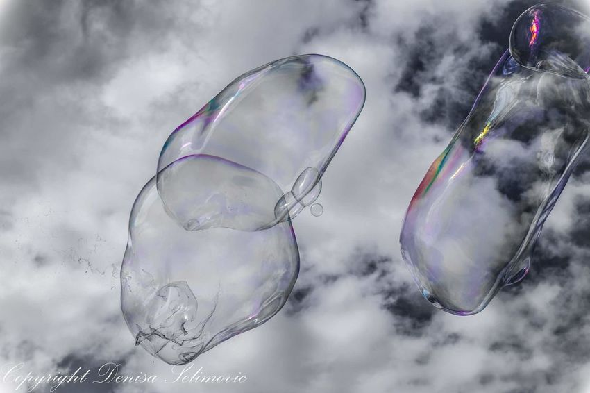 The Great Outdoors Bubbles Colourkey Sky ArtWork Fine Art Photography