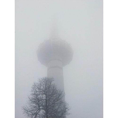 浓雾中的电视塔 岳麓山 长沙 电视塔 湖南 changsha tvtower tower vsco vscocam changsha hunan china snow 雪 不记得这是今年长沙第几场雪了?