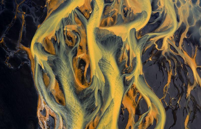 Full frame shot of yellow underwater
