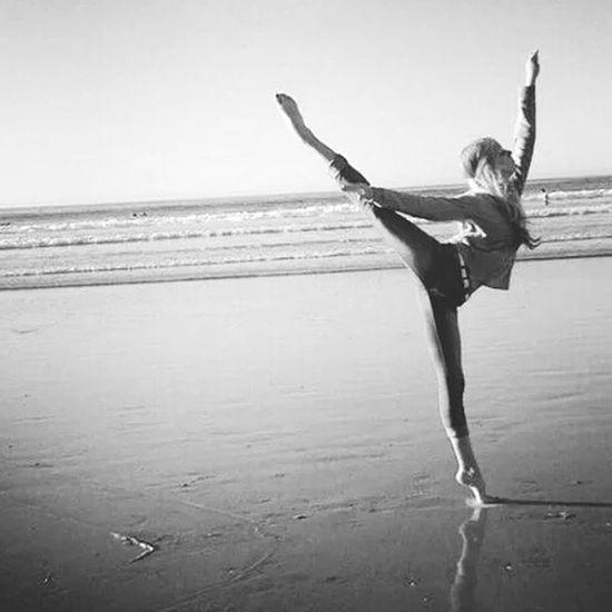 Ballet Dancer Beach Dance The Dancer