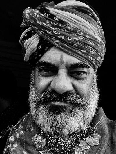 Potrait Beard Real People Rajasthan Rajasthani Culture