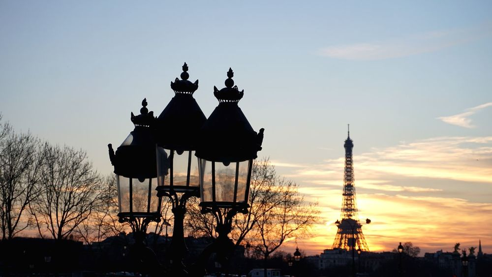 Decoration City Life Romance Sonyalpha Sunset Colour Travel Trip Light And Shadow Amazing View Hello World Eyem Gallery EyeEm Best Shots Eyemphotography Paris, France  Silhouette Outdoors No People Building Exterior Travel Destinations Day